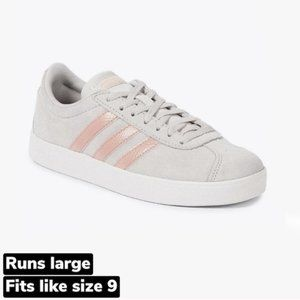 adidas | NEW VL COURT 2.0 Sneakers Grey Pink US8.5
